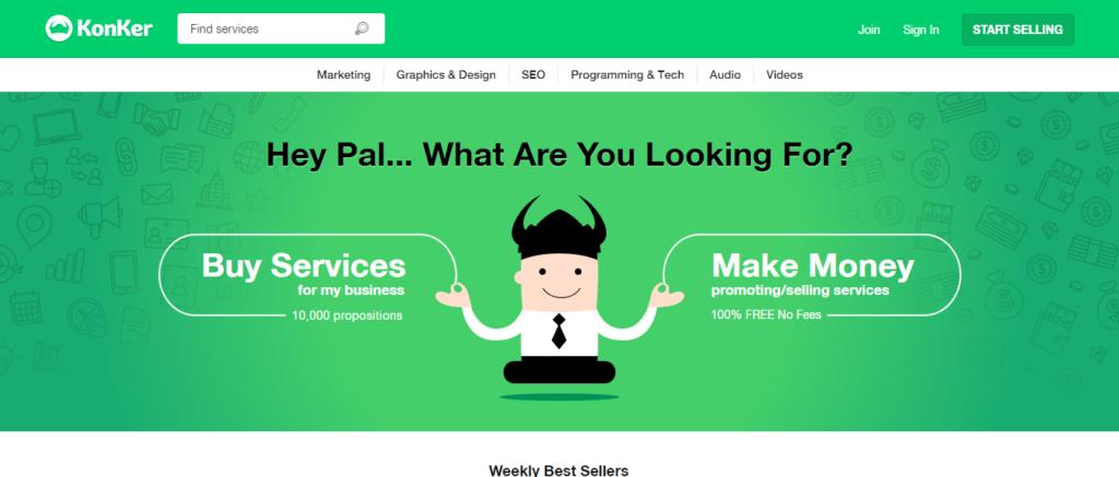 Konker-website-homepage